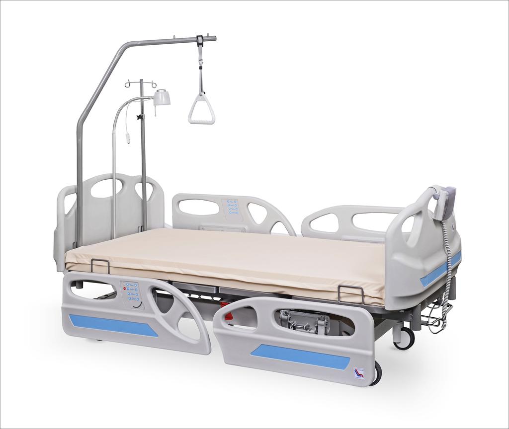 łóżko rehabilitacyjne szpitalne elektryczne ANDIMED z wyposażeniem - łóżko przeznaczone na OIOM