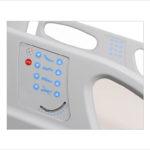 łóżko rehabilitacyjne szpitalne elektryczne ANDIMED – panel sterowania w barierce bocznej