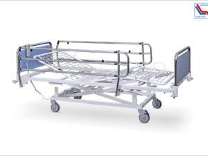 Łóżko rehabilitacyjne szpitalne elektryczne A/3S z barierkami bocznymi