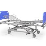 Łóżko rehabilitacyjne szpitalne hydrauliczne AH – szczyty tworzywowe