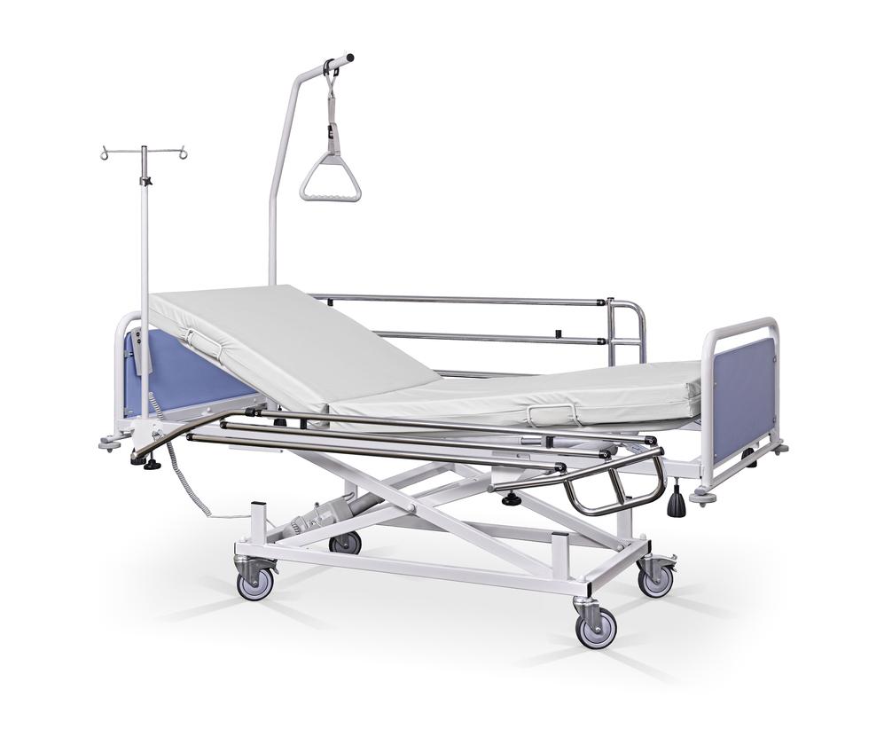 Łóżko szpitalne, rehabilitacyjne A z wyposażeniem