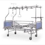 Łóżko rehabilitacyjne szpitalne A4/3S z podwójną ramą ortopedyczną
