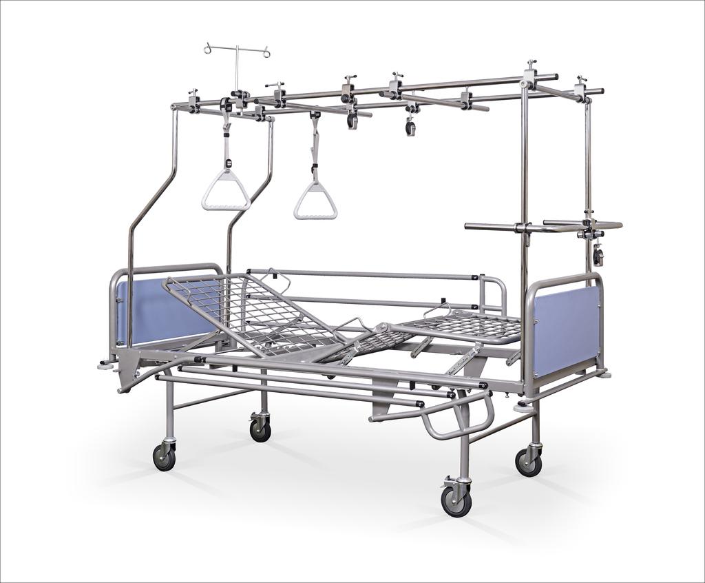 Łóżko rehabilitacyjne szpitalne A4/3S z podwójną ramą ortopedyczn