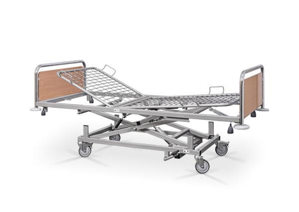 Łóżko rehabilitacyjne szpitalne hydrauliczne AH – szczyty chromowane