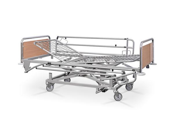 Łóżko rehabilitacyjne szpitalne hydrauliczne AH z barierkami bocznymi