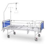Łóżko rehabilitacyjne szpitalne A-4 z wyposażeniem i dodatkowym protektorem