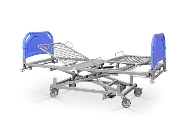 Łóżko rehabilitacyjne szpitalne hydrauliczne AH/3S – szczyty tworzywowe