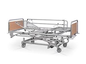 Łóżko rehabilitacyjne szpitalne hydrauliczne AH/3S z barierkami bocznymi