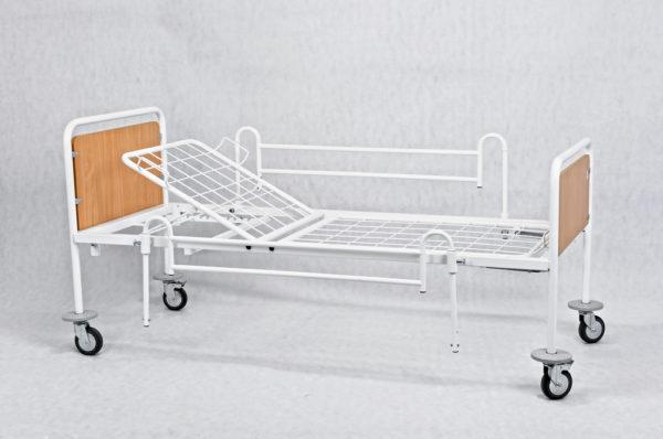 Łóżko rehabilitacyjne szpitalne A3 z barierkami bocznymi