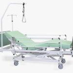 Łóżko rehabilitacyjne szpitalne elektryczne A/3S Irena z wyposażeniem