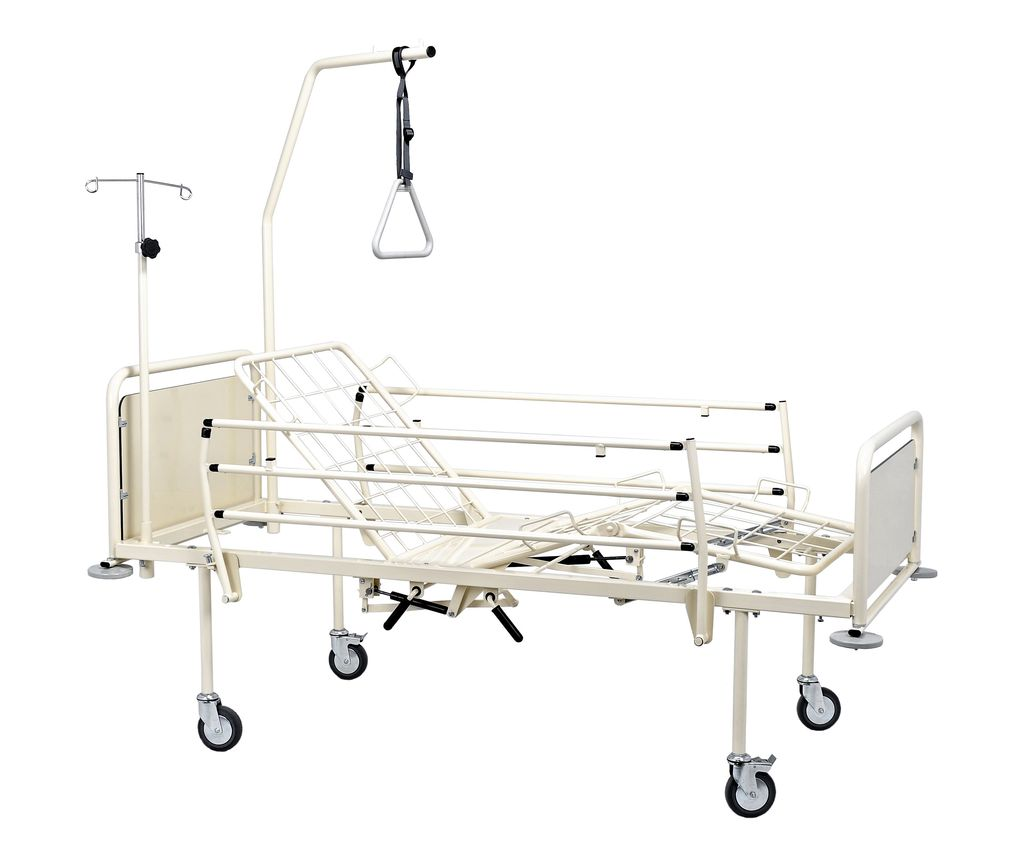 Łóżko rehabilitacyjne szpitalne A4/3SG z wyposażeniem