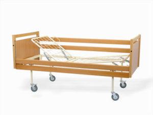 Łóżko rehabilitacyjne A4 w obudowie drewniane przeznaczone do opieki długoterminowej nad pacjentem
