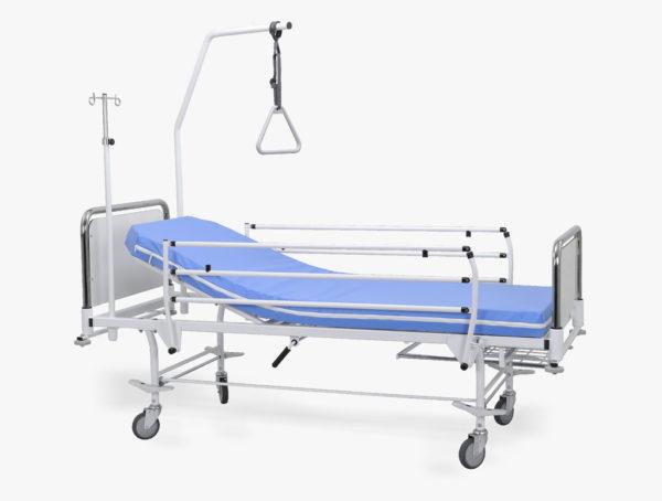 Łóżko rehabilitacyjne szpitalne A4/G z wyposażeniem