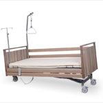Łóżko rehabilitacyjne elektryczne A-6-3S/T w obudowie drewnianej
