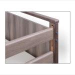 Łóżko rehabilitacyjne elektryczne A-6-3S/T w obudowie drewnianej – szczyt i barierka