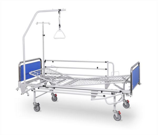 Łóżko rehabilitacyjne szpitalne A-4 z wyposażeniem