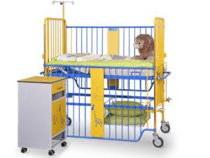 Łóżeczko szpitalne dziecięce D-01 i szafka SM-01