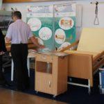 Łóżko rehabilitacyjno-opiekuńcze B1/3S i szafka SP-02