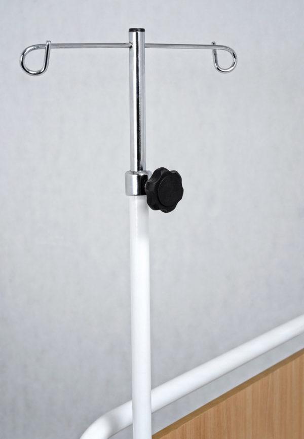 Statyw kroplówki przyłóżkowy 2-haczykowy